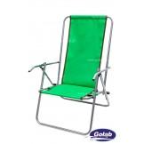 Leżak dwupozycyjny stalowy zielony WYPRZEDAŻ