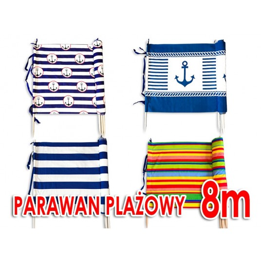 Parawan plażowy 8m