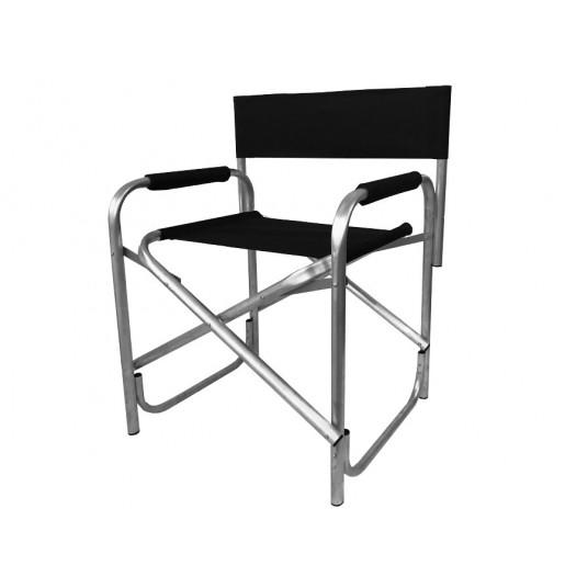 Krzesło reżyserskie czarna tapicerka