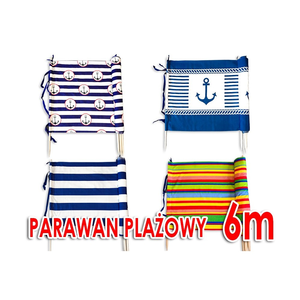 Parawan plażowy 6m