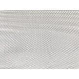 Leżak jednopozycyjny aluminiowy srebrna siateczka