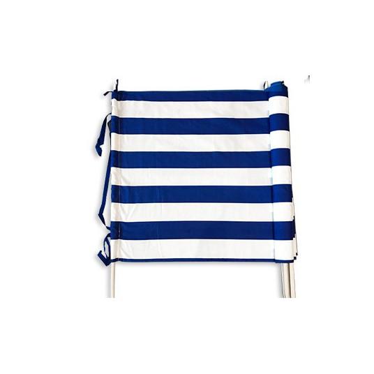 Parawan plażowy biało - niebieskie pasy 6m