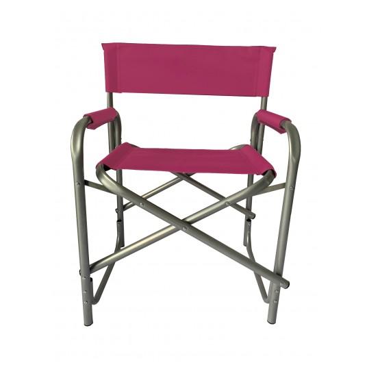 Krzesło reżyserskie tapicerka ciemny róż