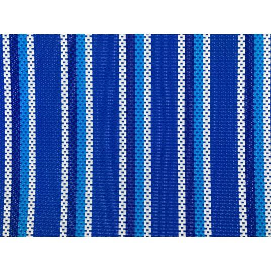Leżak dwupozycyjny aluminiowy niebieskie paseczki