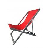 Leżak 3 pozycyjny aluminiowy czerwony