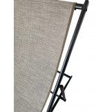 Leżak 3 pozycyjny MAXI aluminiowy cappucino stelaż czarny postarzany