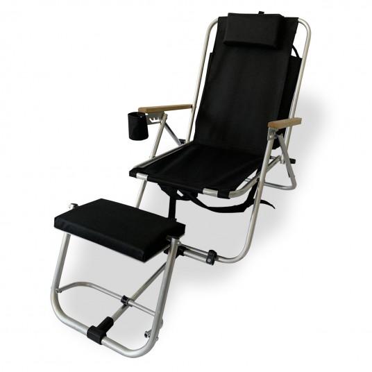 VOYAGER Leżak-plecak 4 pozycyjny z podnóżkiem
