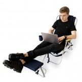 Leżak-plecak 4 pozycyjny z podnóżkiem