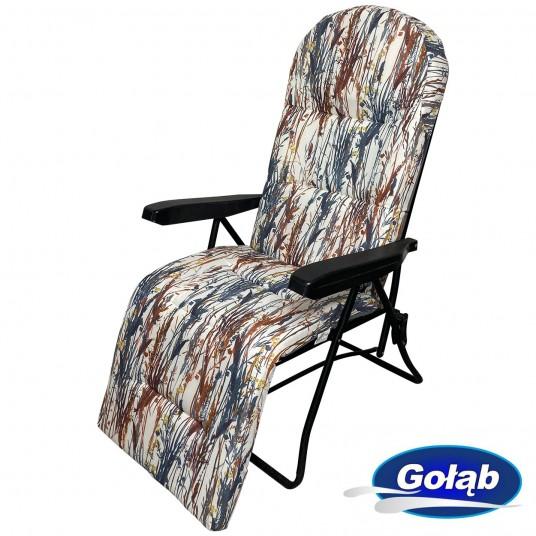 Leżak/Fotel sześciopozycyjny z podnóżkiem na profilu prostokątnym