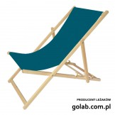 Leżak 3 pozycyjny drewniany, kolor naturalne drewno bukowe, tapicerka szmaragd