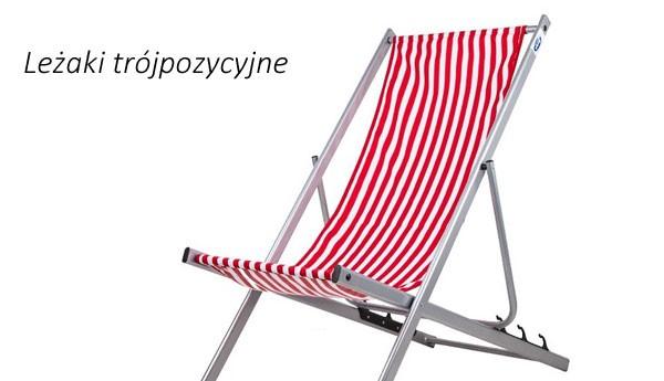 Leżaki trójpozycyjne plażowe
